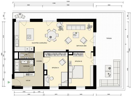 nákres bytu